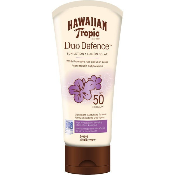 Hawaiian tropic duo defence spf50 sun lotion 180ml