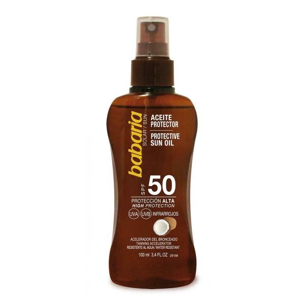 Babaria coco aceite spf50 proteccion muy alta 100ml