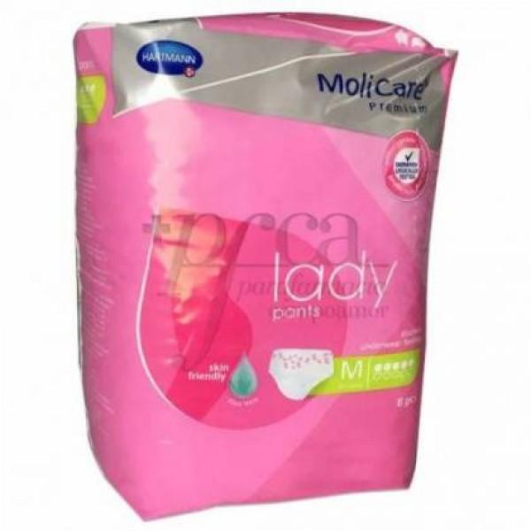 MOLICARE LADY PANTS 5 GOTAS TALLA M 8 UDS