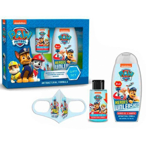 Paw Patrol set Fórmula Actibanterias gel & champú de ducha 250 ml + higienizante 58 ml + mascarilla