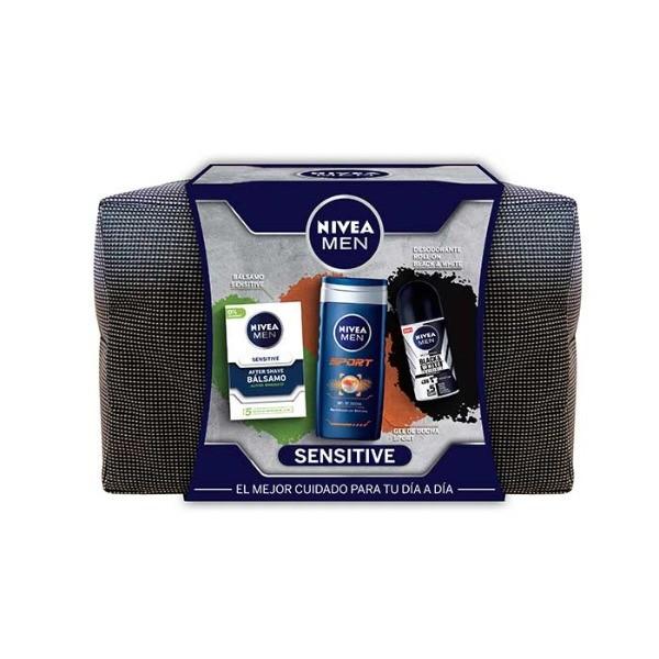 Nivea set Sensitive Bálsamo 100 ml + Gel de Ducha 250 ml + Desodorante Roll-on 50 ml