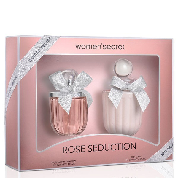 WOMAN SECRET  Set Rose Seduction  EDP 100 ml + Body Lotion 200 m l