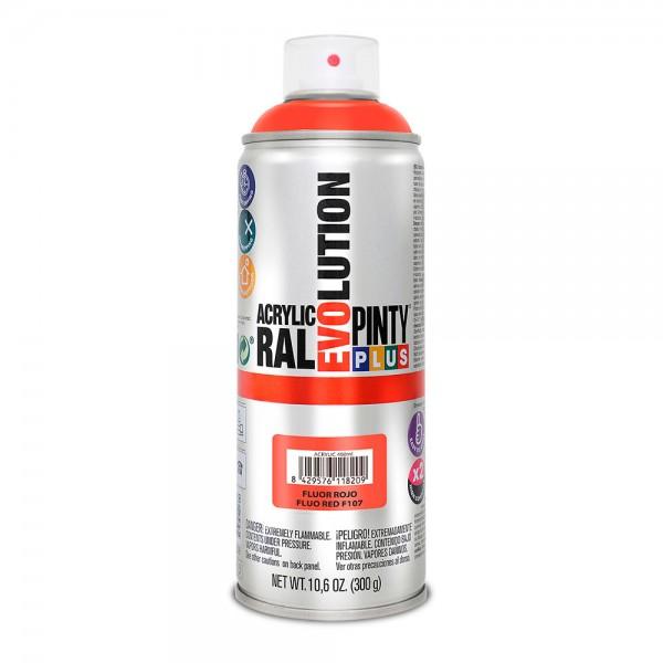 Pintura en spray pintyplus evolution 520cc  fluor.rojo f107