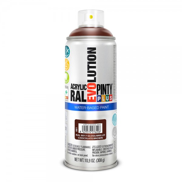 Pintura en spray pintyplus evolution water-based 520cc ral 8017 chocolate